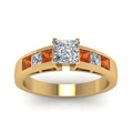 yellow-gold-princess-white-diamond-engagement-wedding-ring-with-orange-sapphire-in-channel-set-FD1001PRRGSAORANGLE5-NL-YG-30