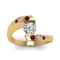 yellow-gold-round-white-diamond-engagement-wedding-ring-with-red-ruby-in-bezel-set-FD121032RORGRUDRANGLE5-NL-YG