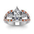 white-gold-marquise-white-diamond-engagement-wedding-ring-with-orange-sapphire-in-pave-set-FD71589MQRGSAORANGLE5-NL-WG