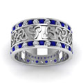 white-gold-round-white-diamond-mens-wedding-band-with-blue-sapphire-in-channel-set-FDDB1337BGSABLANGLE5-NL-WG