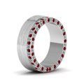 white-gold-round-red-ruby-mens-wedding-band-with-white-diamond-in-pave-set-FDDB1339BGRUDRANGLE2-NL-WG