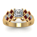yellow-gold-princess-white-diamond-engagement-wedding-ring-with-red-ruby-in-channel-bezel-set-FDENR1751PRRGRUDRANGLE5-NL-YG