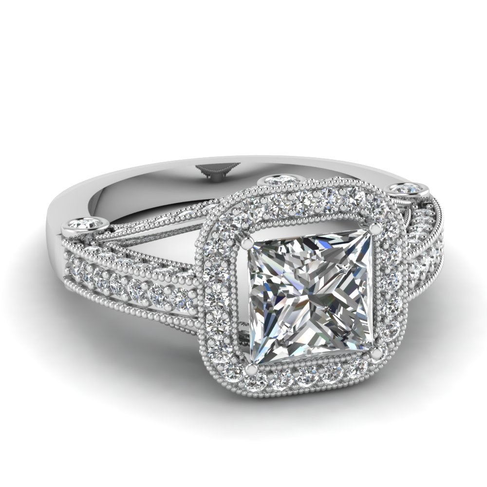 Whitegoldprincesswhitediamondengagementweddingring