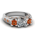 white-gold-princess-white-diamond-engagement-wedding-ring-with-orange-sapphire-in-pave-prong-set-FDENR7937PRRGSAOR-NL-WG