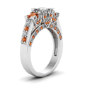 white-gold-princess-white-diamond-engagement-wedding-ring-with-orange-sapphire-in-pave-prong-set-FDENR7937PRRGSAORANGLE2-NL-WG
