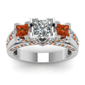 white-gold-princess-white-diamond-engagement-wedding-ring-with-orange-sapphire-in-pave-prong-set-FDENR7937PRRGSAORANGLE5-NL-WG
