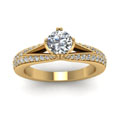 yellow-gold-round-white-diamond-engagement-wedding-ring-in-pave-set-FDENR8205RORANGLE5-NL-YG