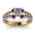 yellow-gold-asscher-white-diamond-engagement-wedding-ring-blue-sapphire-in-pave-set-FDENR8365ASRGSABLANGLE5-NL-YG