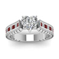 heart shaped cathedral vintage diamond engagement ring with ruby in FDENS3222HTRGRUDRANGLE5 NL WG