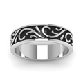 white-gold-exquisite-design-mens-wedding-band-FDHM345BANGLE5-NL-WG