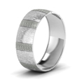 white-gold-carved-cross-satin-finish-mens-wedding-band-FDM1153BANGLE2-NL-WG