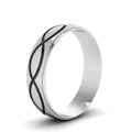 infinity engraved wedding band in FDM945BANGLE2 NL WG